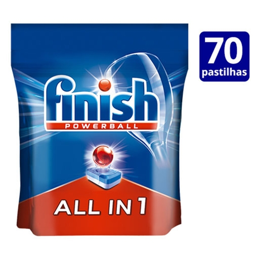 DETERGENTE PASTILHAS MÁQUINA DA LOIÇA FINISH ALL IN 1 REGULAR 70 DOSES