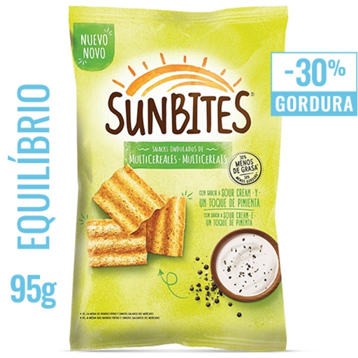 SNACKS SUNBITES SOUR CREAM & PIMENTA 95 GR