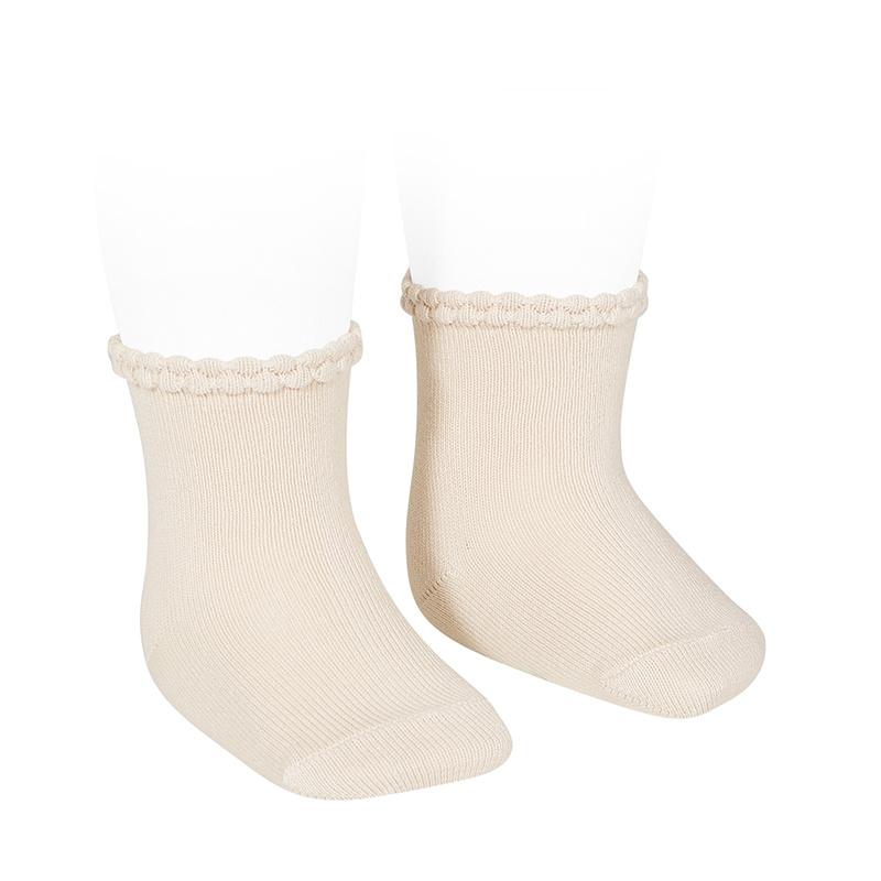 Calcetines Cortos con Puno Labrado