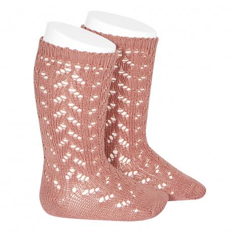 Calcetines altos calado crochet