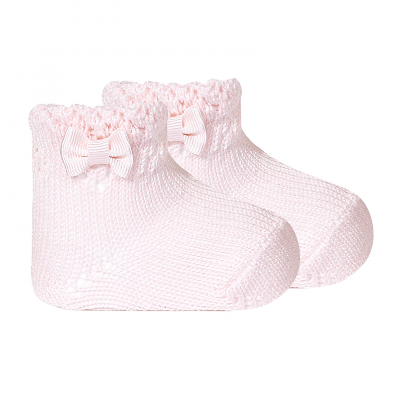 Calcetines tobilleros perle calados con lazo