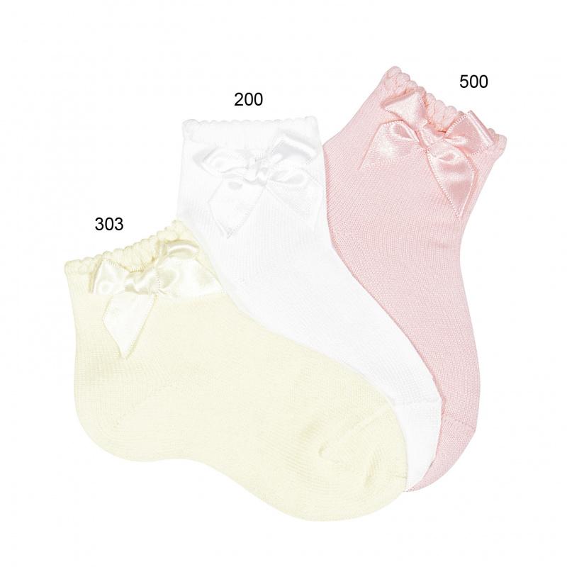 Calcetines cortos puno labrado con lazo