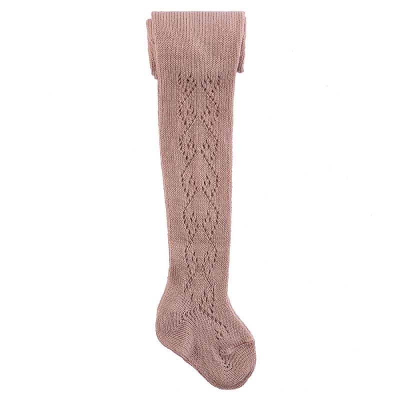 Leotardos Calados de Lana (Crochet)
