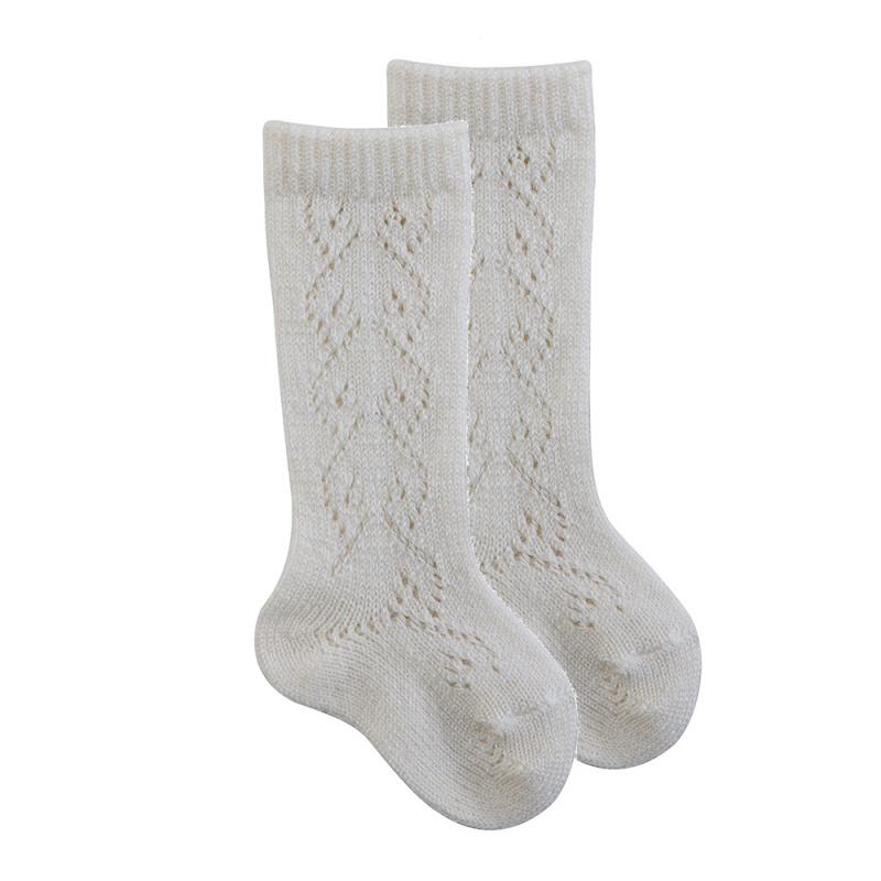 Calcetines Calados de Lana (Crochet)