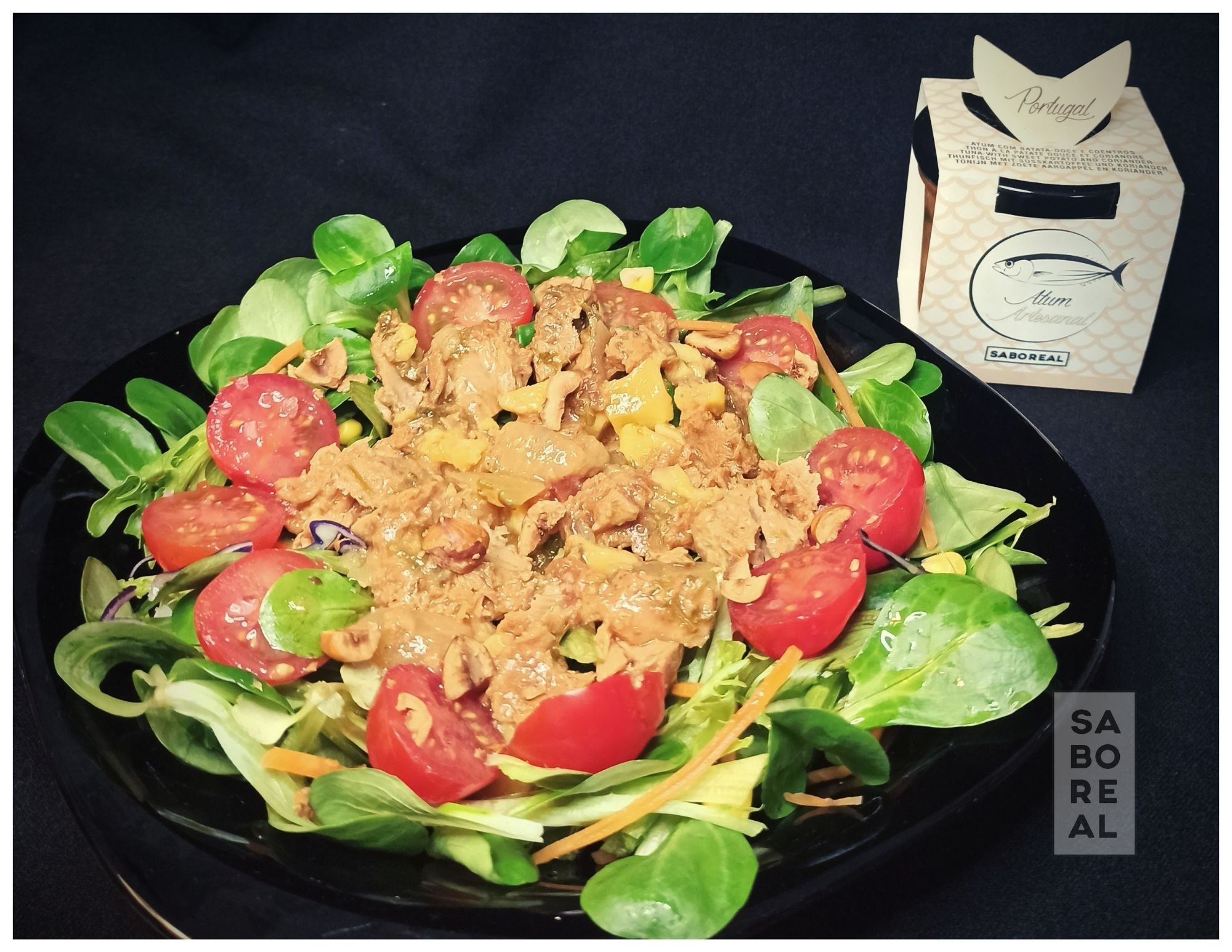 Salade fraîche avec une petiscada