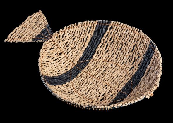 Pescaditos - portacazuela rayado
