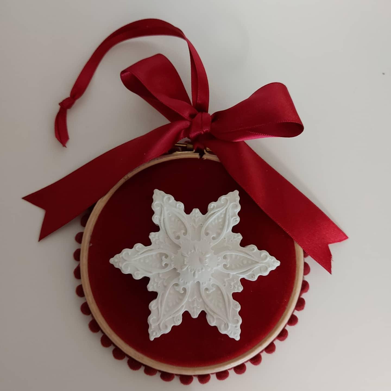 Pendurado Snowflake Veludo