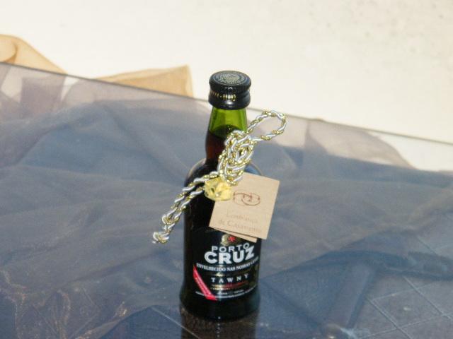 C6164 - Garrafinha Vinho do Porto decorada com Nó Marinheiro