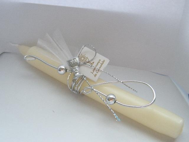 C11303 - Vela comprida decorada com arame