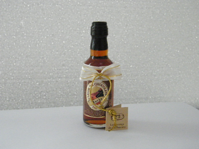C14614 - Garrafinha licor de chocolate decorada