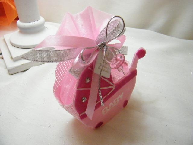 C14217 - Carrinho de bebé em sisal cor-de-rosa