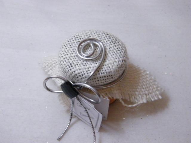 C15009 - Frasco de mel decorado com arame