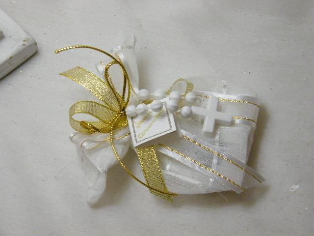 C15305 - Saco em tecido bicos decorado em dourado com dezena