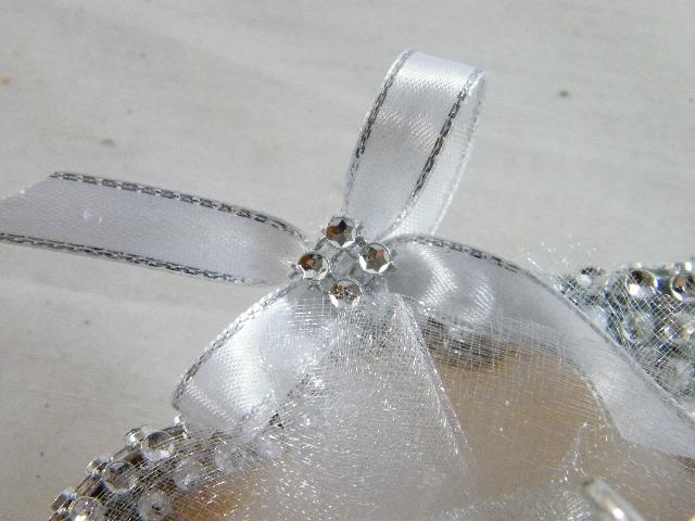C15705 - Concha decorada com strass para porta alianças