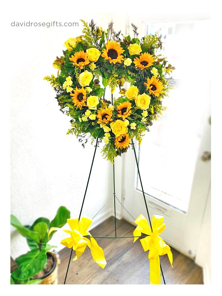 Bright Yellow Sympathy Open Heart