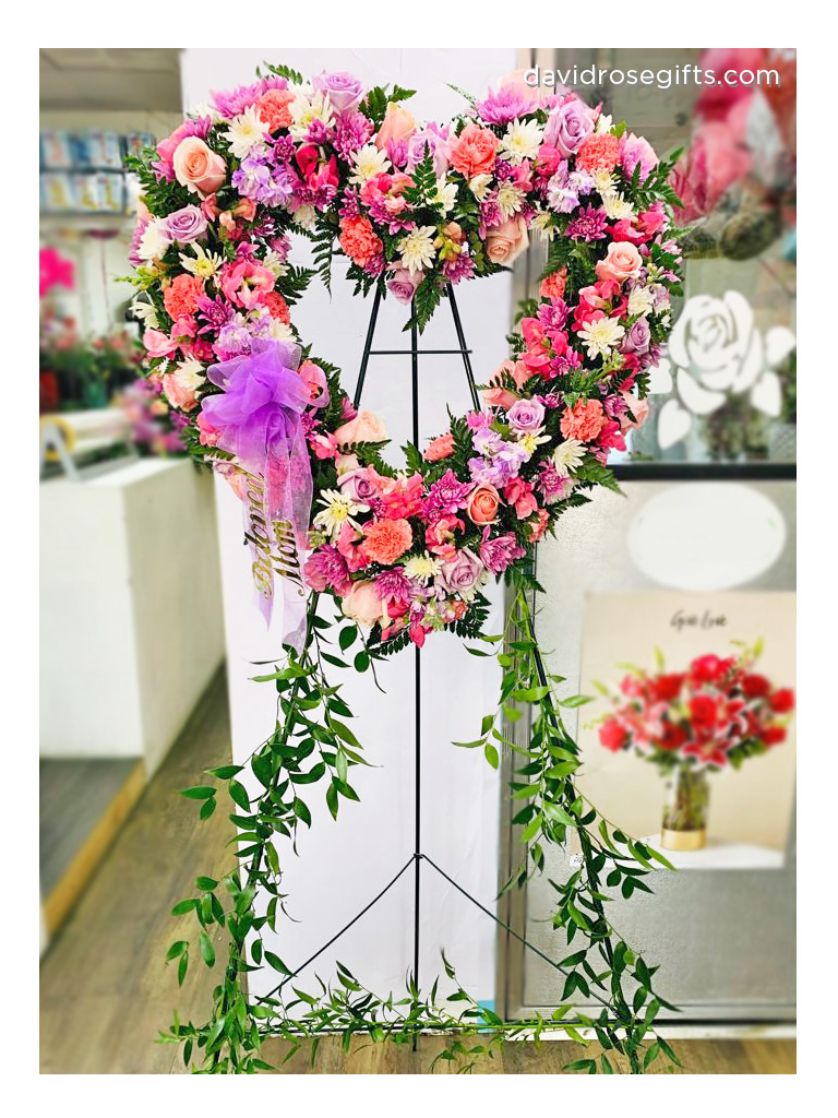 Pink and Lavender Collection Standing Open Heart