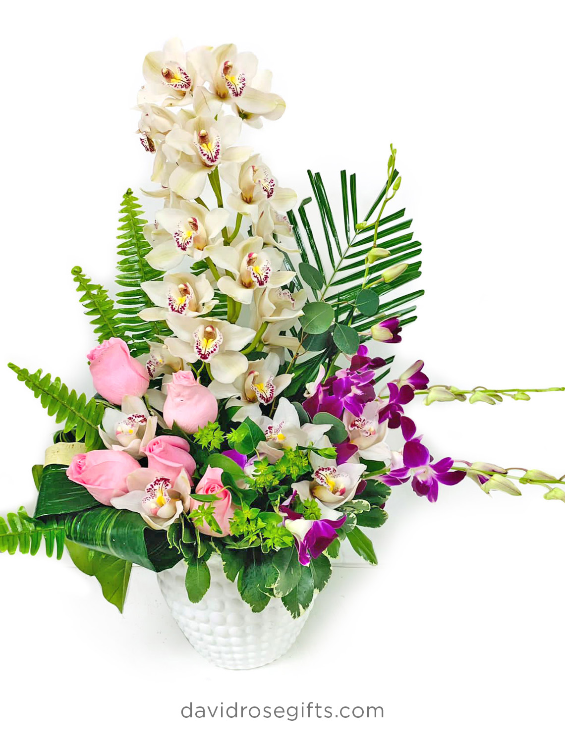 Orchids and Roses Basket