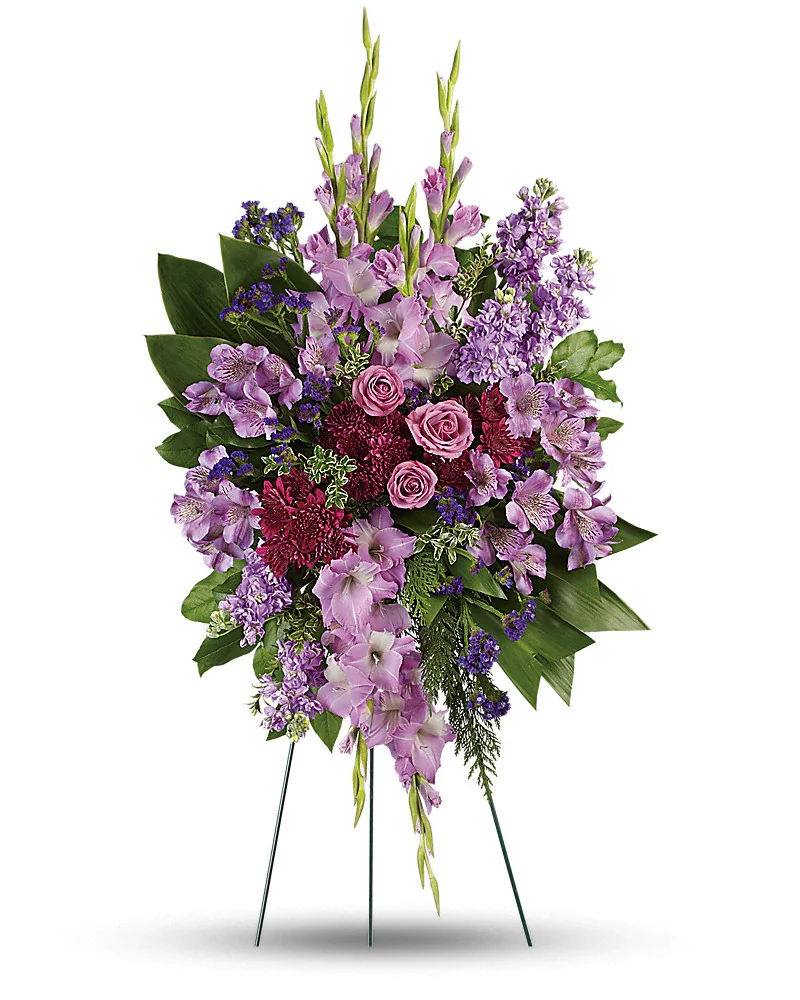 Luxurious Lavender Roses Standing Spray
