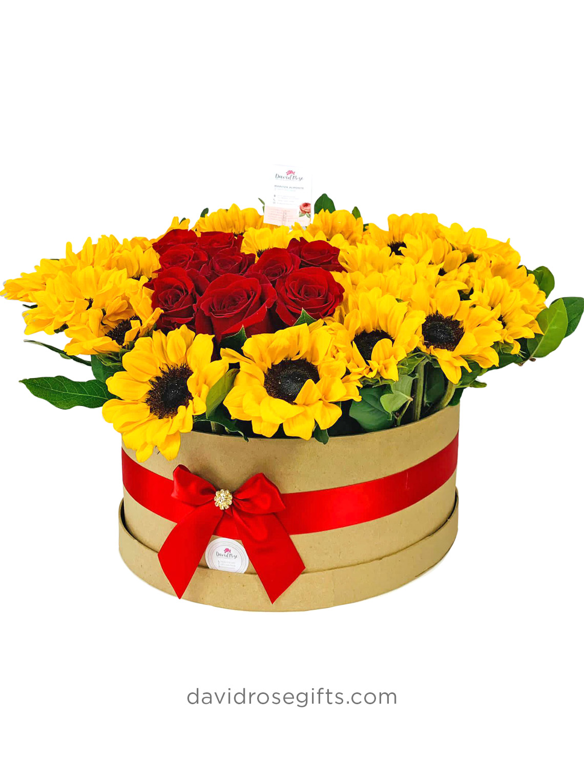 Mix Box Roses and Sunflowers