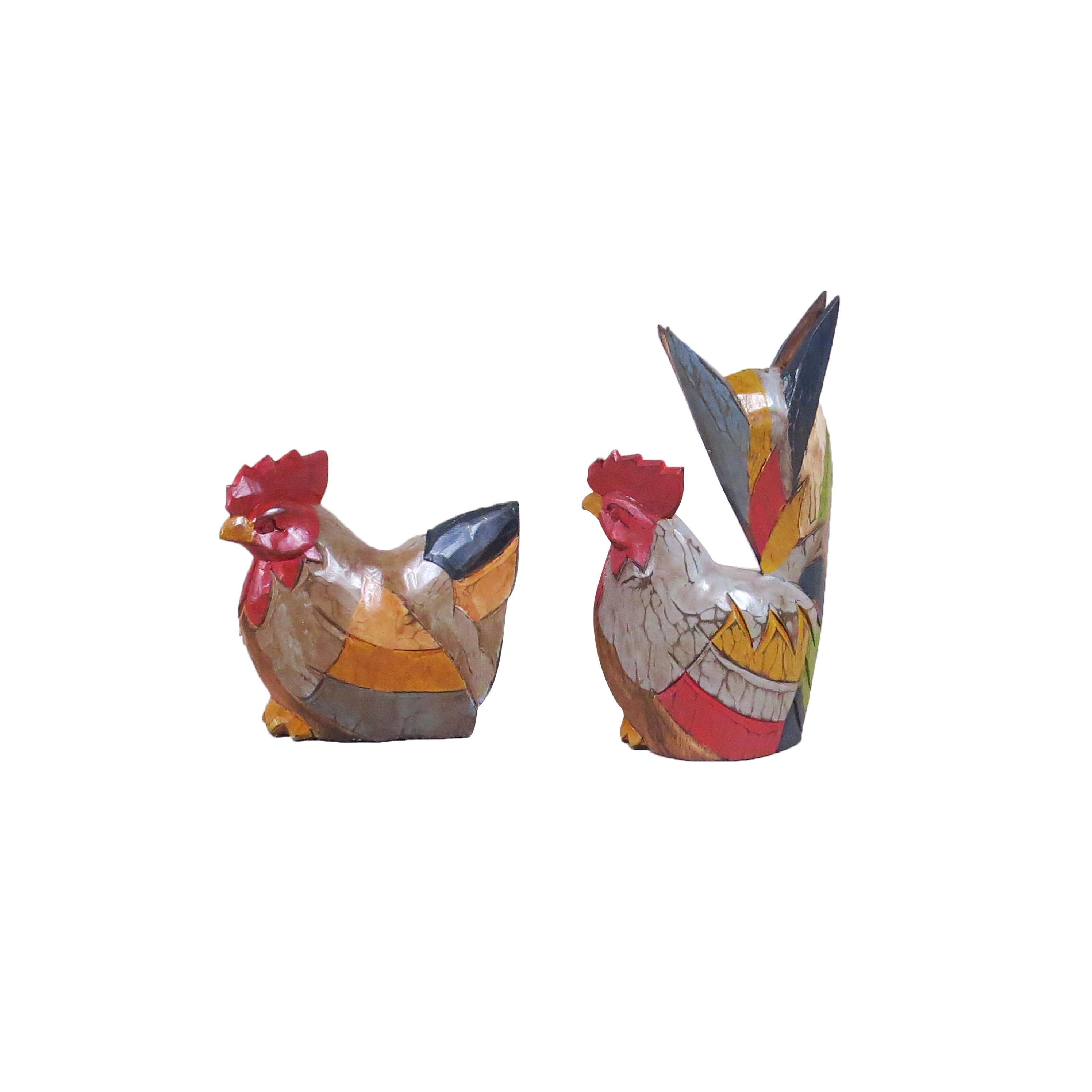 Pareja gallina ayam