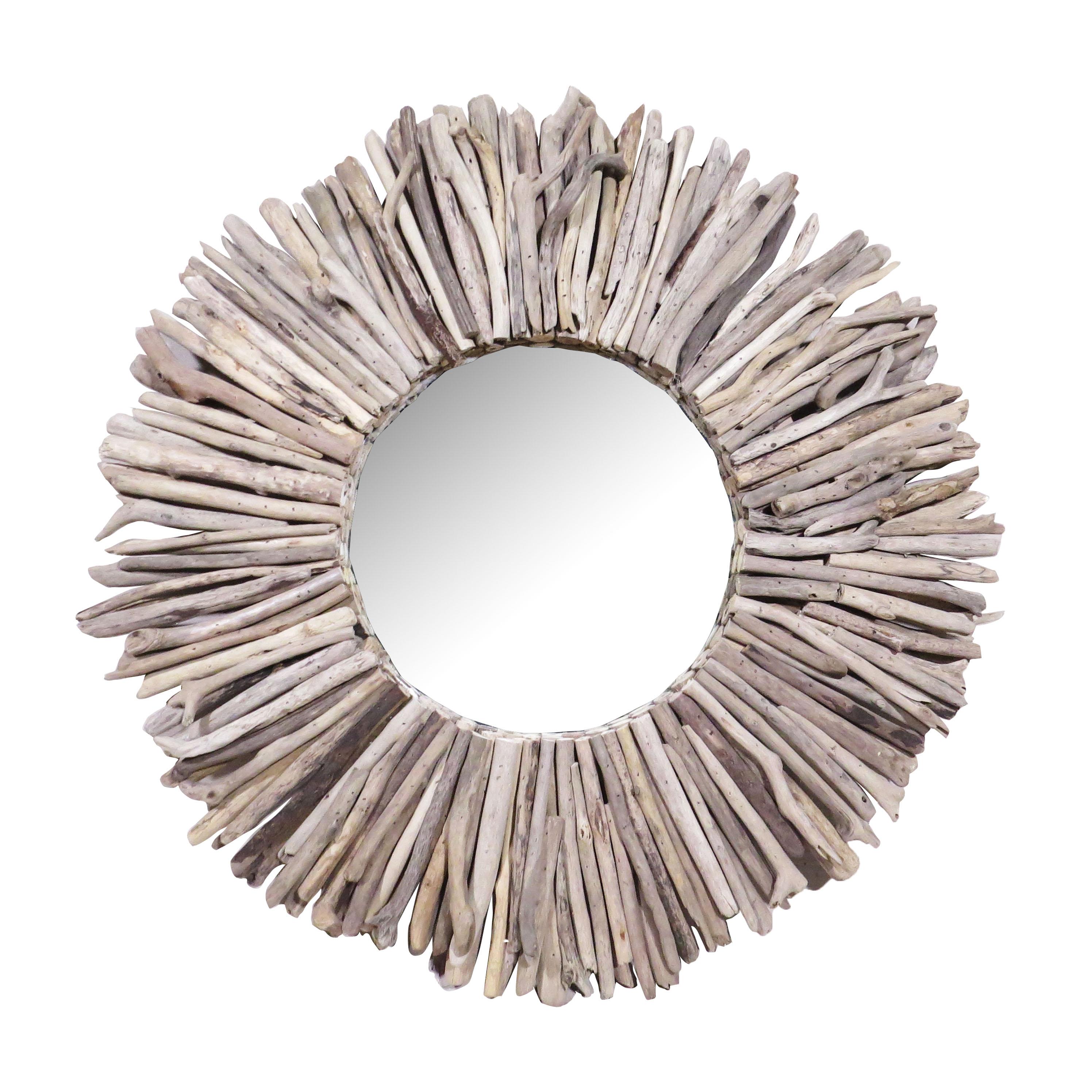 Espejo redondo palos largos