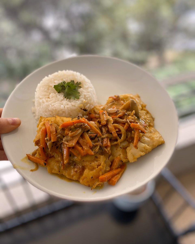 Merluza Austral al Curry