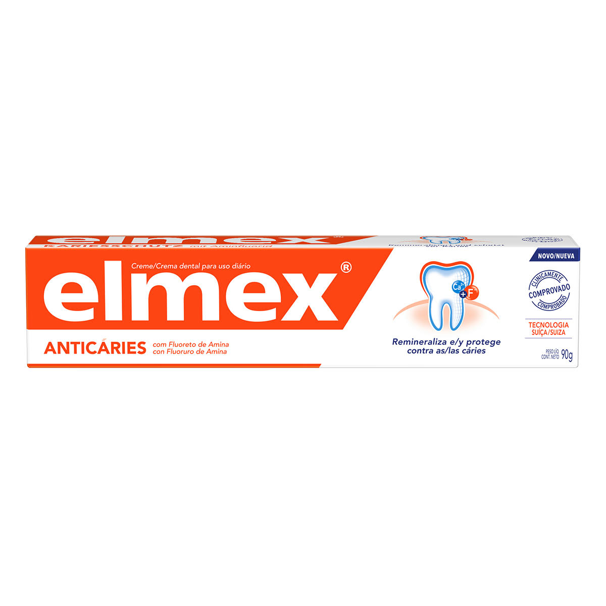 Pasta dental elmex® Anticaries, remineraliza y protege contra la caries.