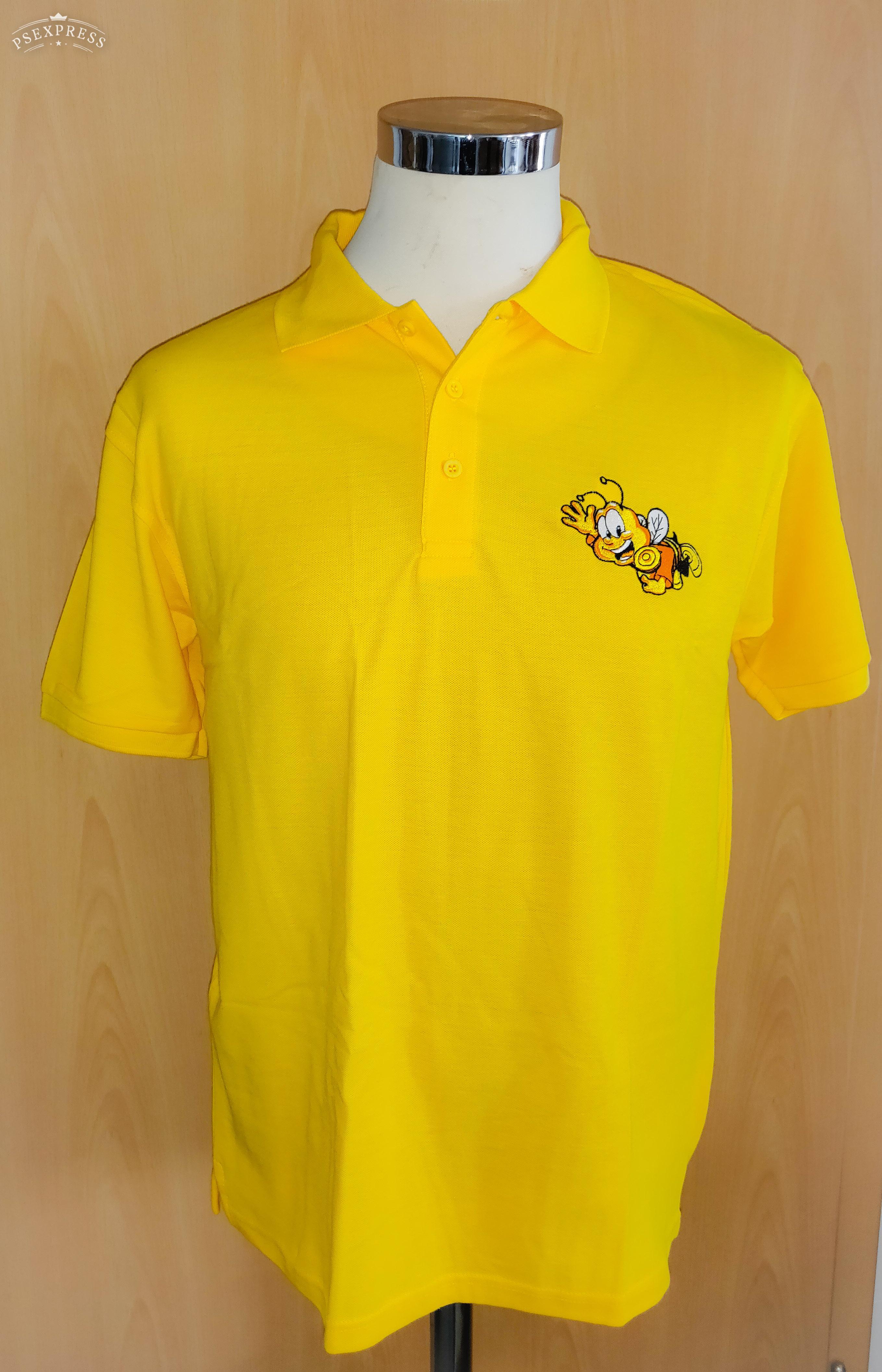 Polo Shirt mit gesticktem Bienenmotiv