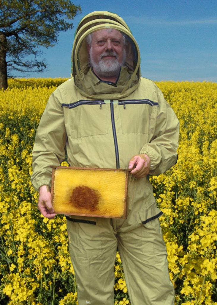 Imkeranzug aus Baumwolle, für die kalten Stunden des Tages, mit Stehhaube
