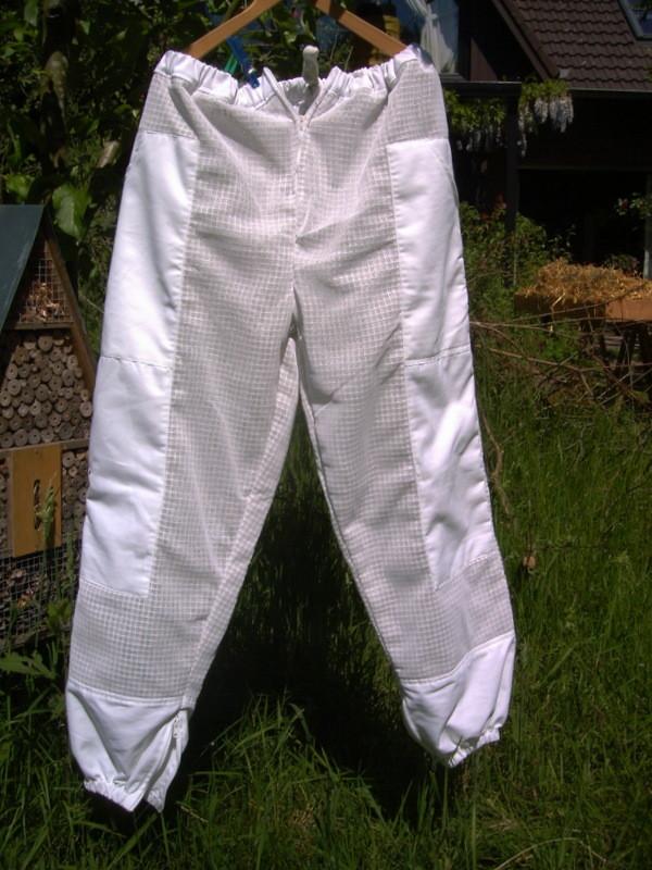 Imker-Hose, untersetzte Größen (in weiß oder beige)
