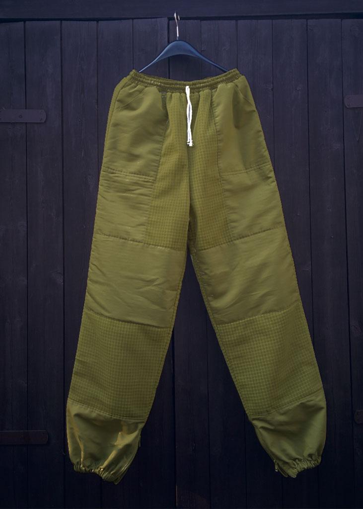 Pantaloni da apicoltore verde ape