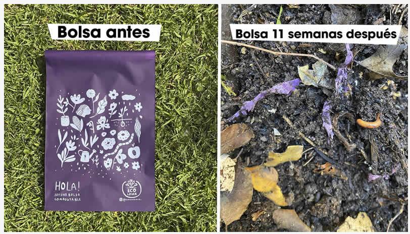 Envíos en bolsas compostables