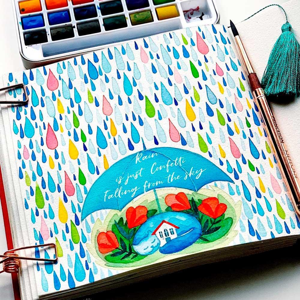 Art Philosophy Watercolor Confetti - Set 24 Acuarelas en Pastillas