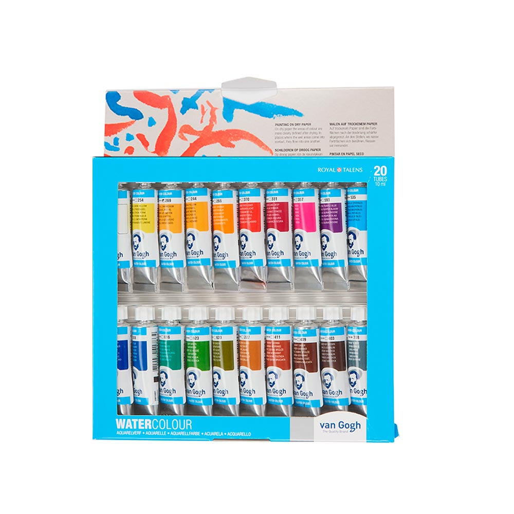 Van Gogh - Set 20 Acuarelas Colores Básicos Tubos 10 ml