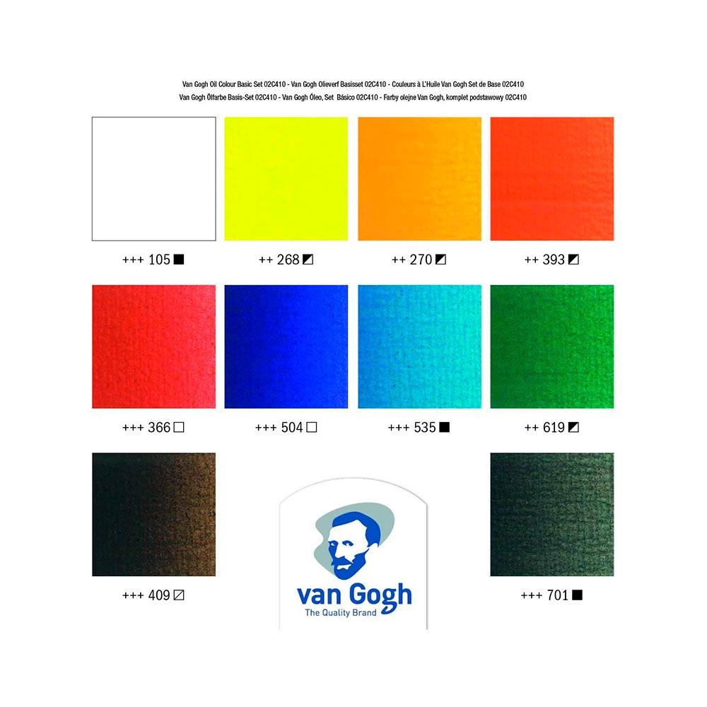 Van Gogh Oil Colour - Set 10 Óleos Tubos de 20 ml