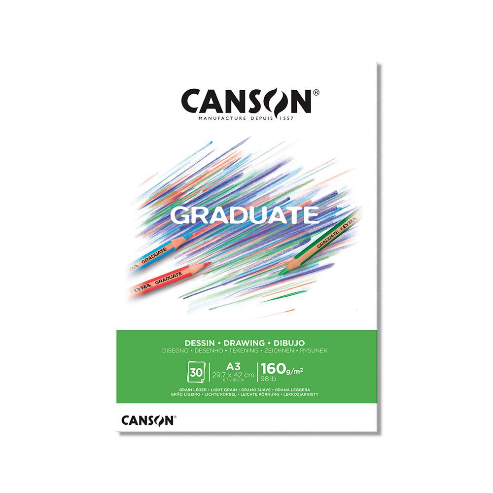 Canson Graduate - Block Dibujo 30 Hojas, 160 g/m2