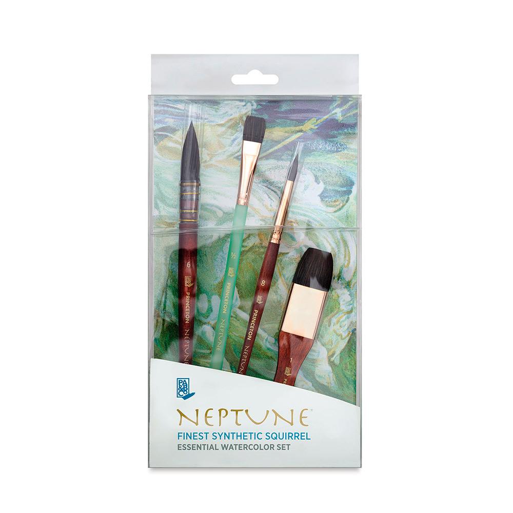 Princeton Neptune - Set 4 Pinceles Essential Watercolor