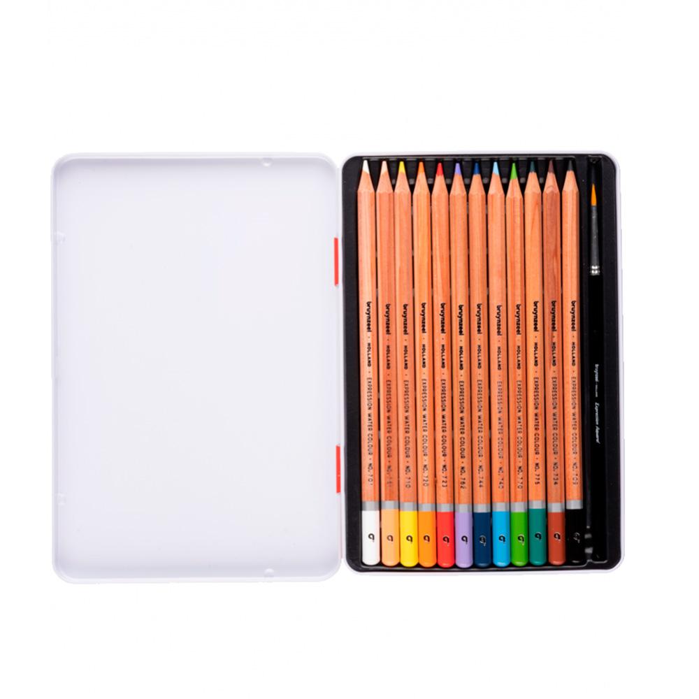 Bruynzeel Expression - Set 12 Lápices de Colores Acuarelables