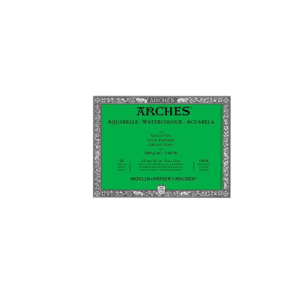 Arches - Block Acuarela Grano Fino 300 g/m2 20 h