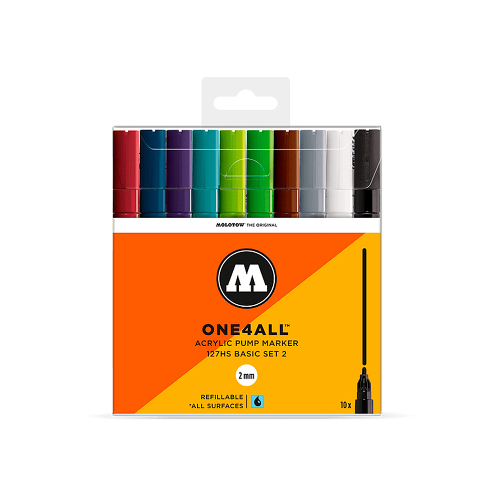 Molotow One4All - Set 10 Marcadores 127HS 2 mm Basic 2