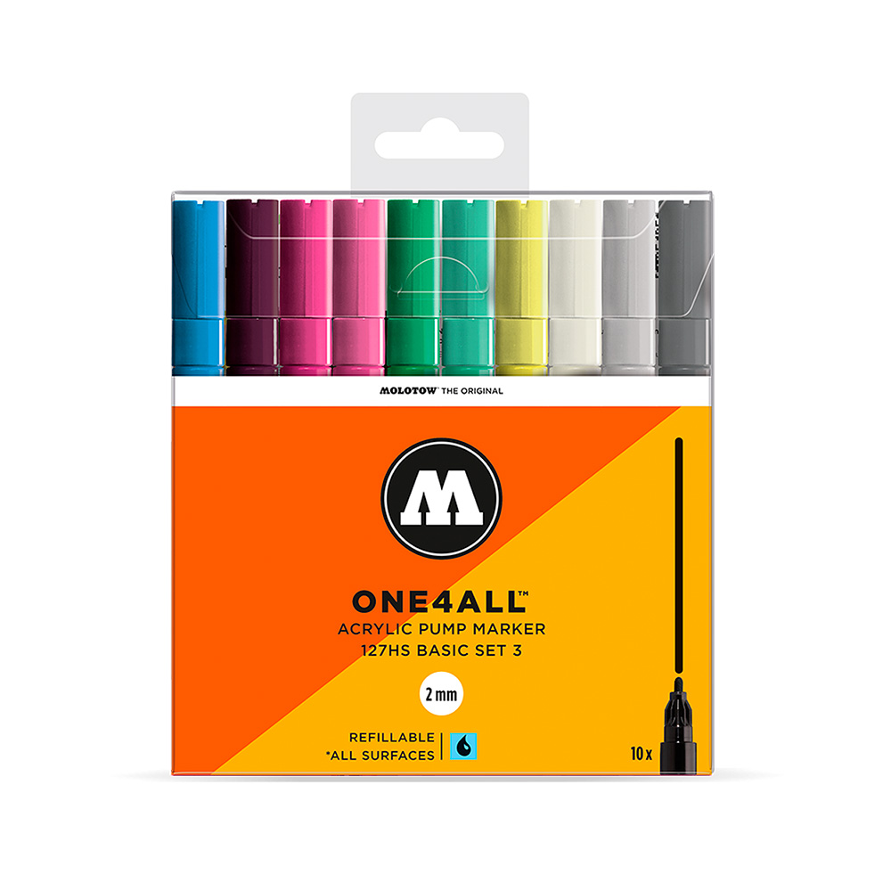 Molotow One4All - Set 10 Marcadores 127HS 2 mm Basic 3