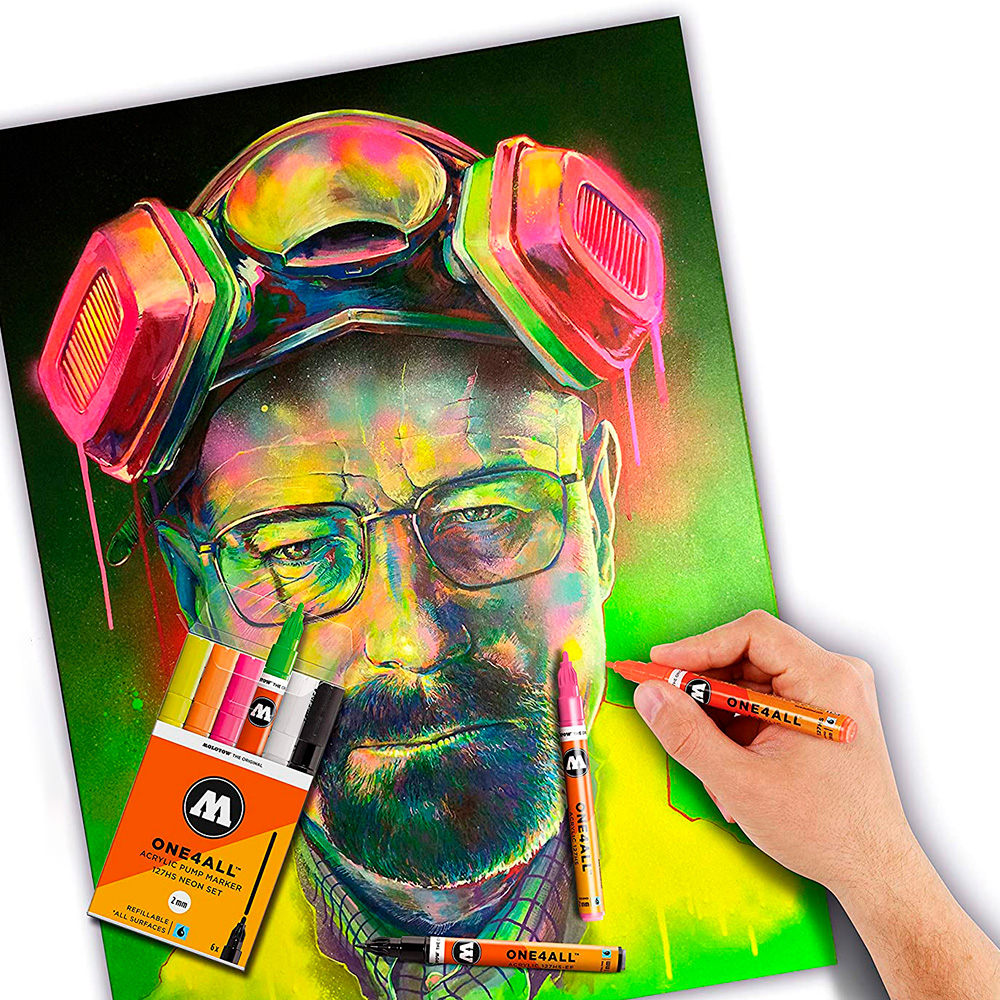 Molotow One4All - Set 6 Marcadores 227HS 4 mm Neon
