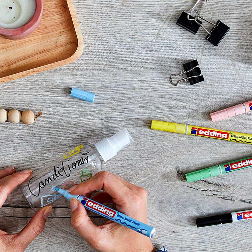 Edding 751 - Set 5 Marcadores de Pintura (1-2 mm) Pastel