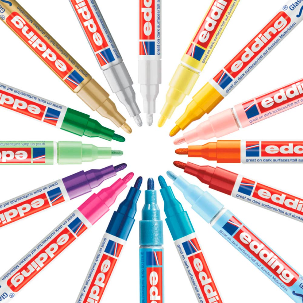 Edding 751 - Set 8 Marcadores de Pintura (1-2 mm) Pastel