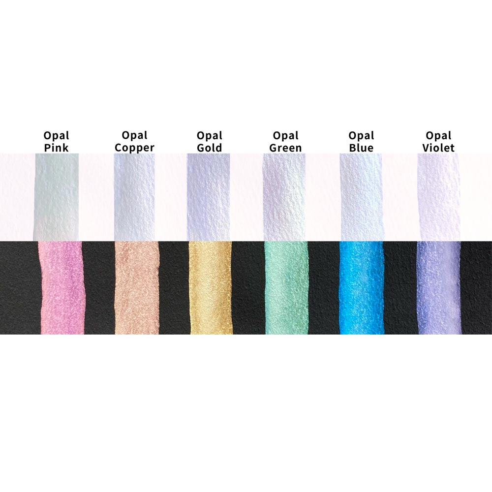 Kuretake Gansai Tambi - Set 6 Acuarelas Opal Colors