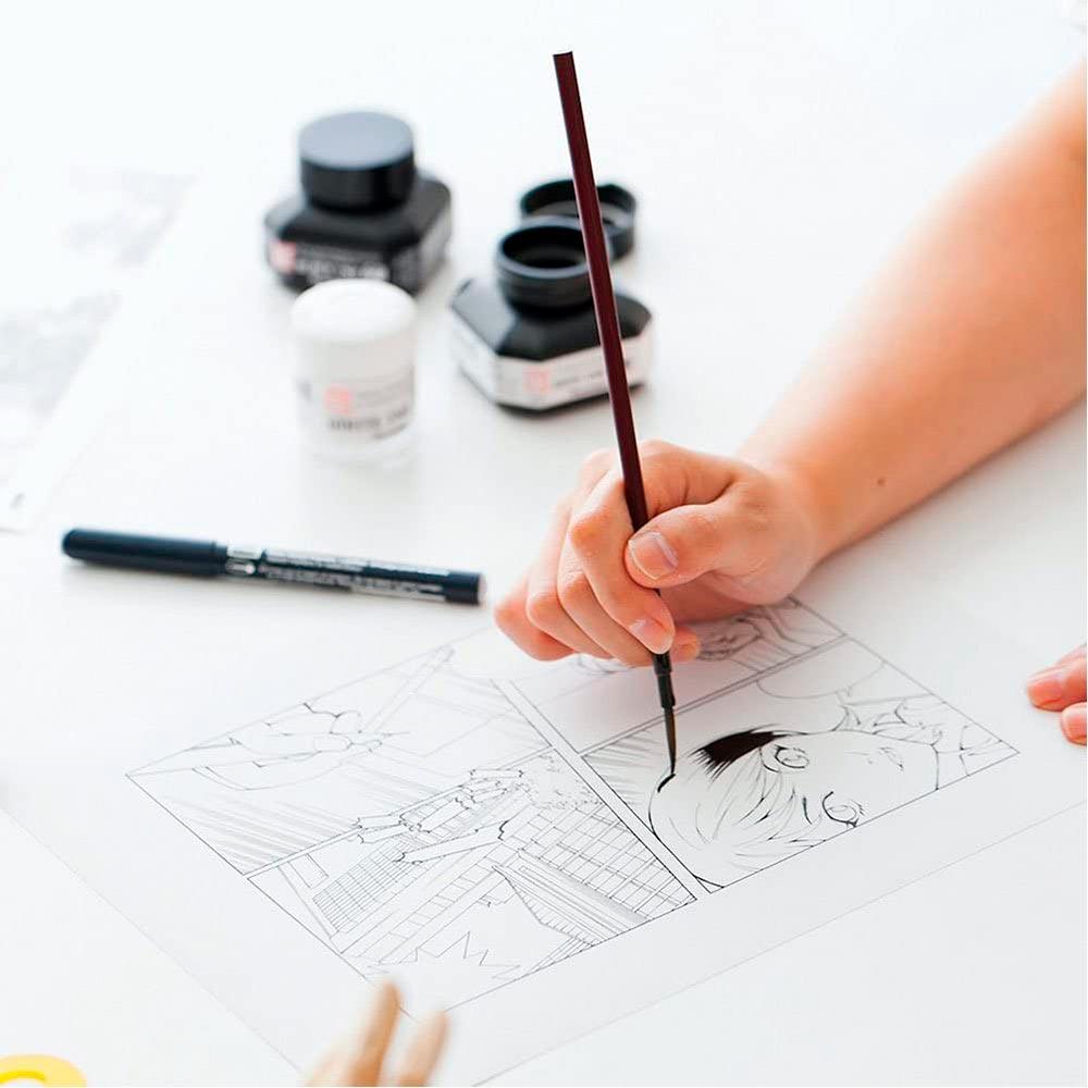 Kuretake Zig Cartoonist - Tinta Sumi Ink 60 Negra (60 ml)