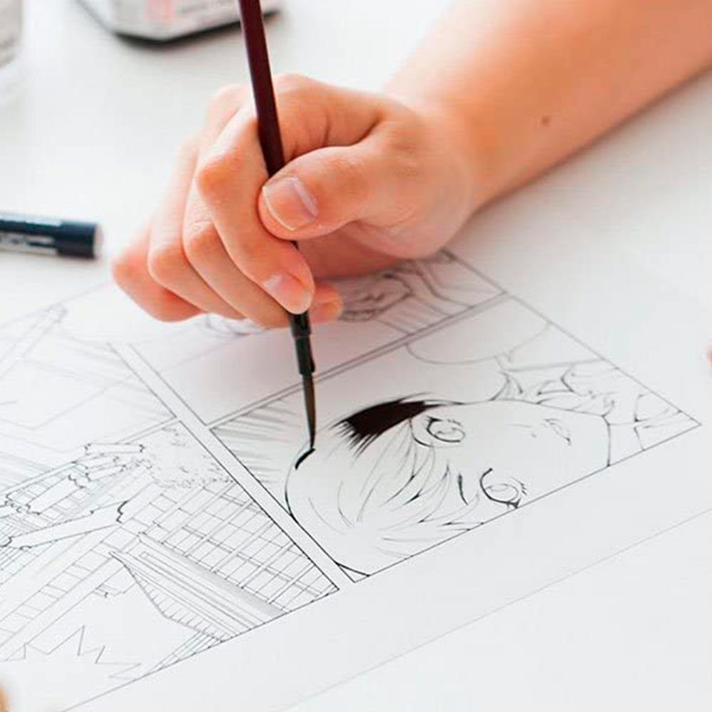 Kuretake Zig Cartoonist - Tinta Black Ink 60 Negra (60 ml)