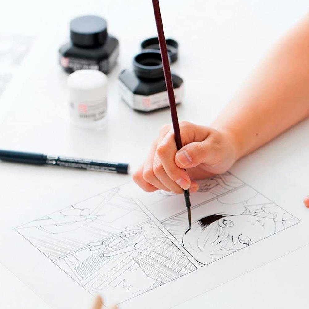 Kuretake Zig Cartoonist - Tinta White Ink 30 Blanca (30 g)