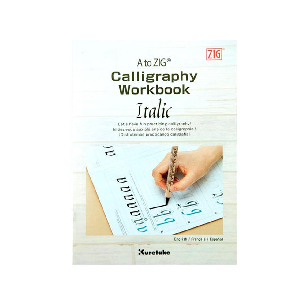 Kuretake - Revista A to Zig Calligraphy Workbook Italic