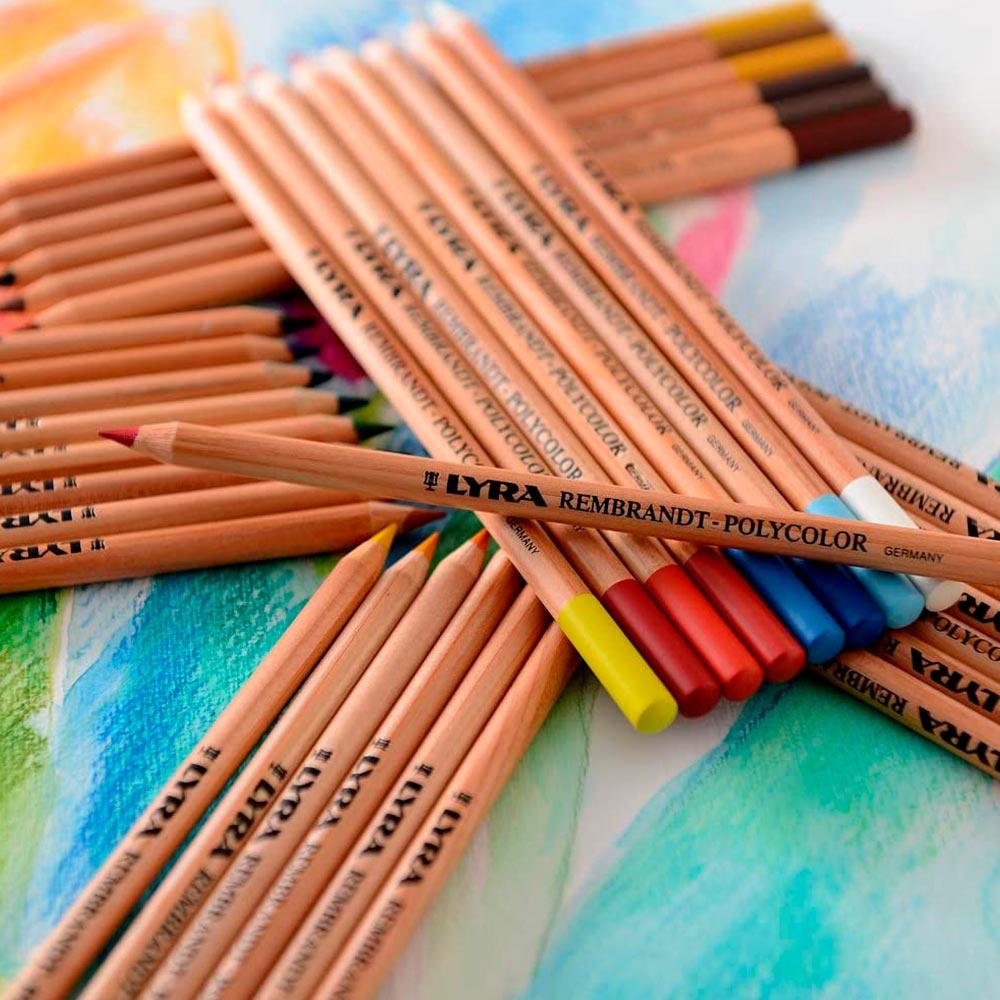 Lyra Rembrandt Polycolor - Kit Lápices de Colores 105 Piezas Caja de Madera